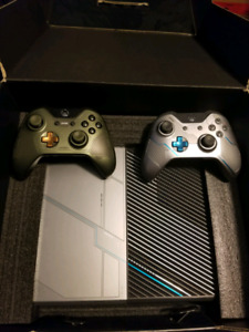 1TB Halo Edition with two Halo controllers and Halo 5 Steel Book