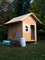 Siding install for 8x12 shed up in huntsville