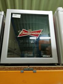 Husky glass door table top fridge at Recyk Appliances
