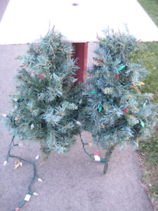 Small X-mas Trees for outdoor decorations with lights