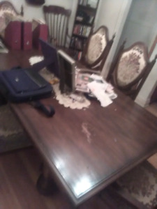 Dining room table with full hutch