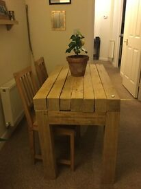 Beautiful Hand-made SOLID OAK Dining Table. *ONE-OF-A-KIND*