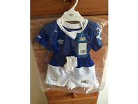 Everton football team kit.