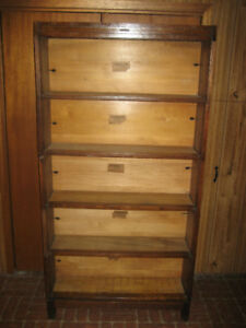 Antique Early 1900's  Mission Oak Sectional Bookcase