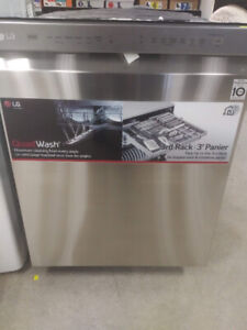 """24"""" LG Dishwasher Stainless Steel with QuadWash & Direct Drive"""