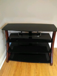 4 level glass tv stand