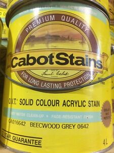 Cabot Stains OVT SOLID COLOUR ACRYLIC STAIN Beechwood Grey