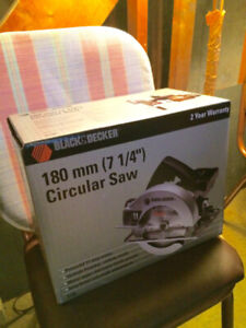 "Black and Decker Circular Saw (180 mm, 7 ¼"") – Unopened in Box!!"