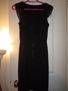 Black Ruffle Dress size 0 (zero)