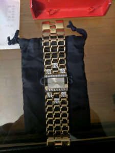 GUESS ice cube gold watch