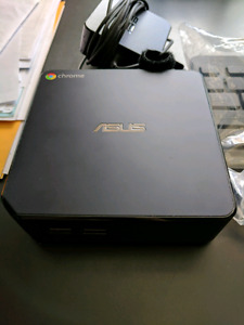 ASUS Chromebox Desktop Computer with keyboard and mouse ChromeOS