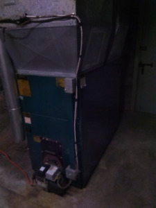 Oil forced hot air furnace