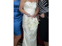 Wedding dress size 6-8 fishtail