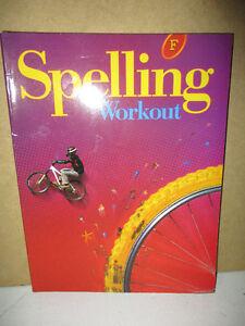 NEW Spelling Workout F Workbook Kitchener / Waterloo Kitchener Area image 1