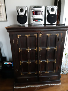 Cabinet and Stereo