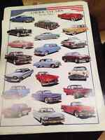 HUGE 38x27 AMERICAN CLASSIC CARS OF THE FIFTIES POSTER RARE NEW City of Montréal Greater Montréal Preview