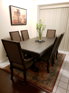 High end DINING SET (table & 6 chairs) *Gently used