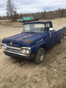1960 ford f100 8 feet box 2 wheel drive