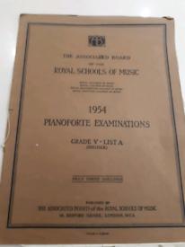 Vintage 1954 pianoforte exam piece, royal schools of music