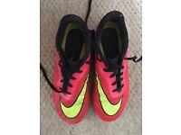 Football boots Nike hyper venom size 5