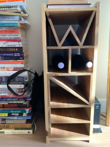 Solid cherry hand made wine rack