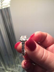 Canadian Princess Cut Engagement ring