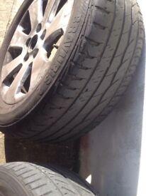 Vauxhall insignia Alloys plus tyres