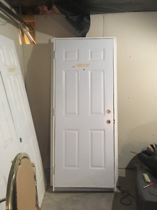 One Exterior Door and Two Interior Door
