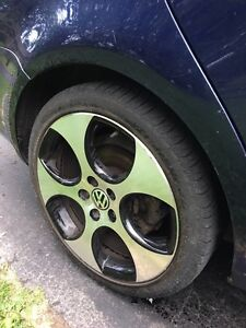"""VW GTI 18"""" Rims and Tires"""