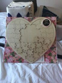 Wedding guest book jigsaw