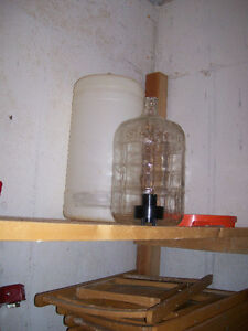 wine making equipment  2 glass carboys 5 gal each used
