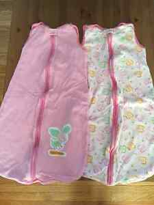 Two infant sleep sacs 0-6 months