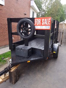 Removable sides, heavy capacity trailer