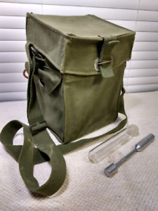 Army Surplus Field Sample Bag with Test Tube