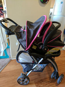 Nice floral stroller with car seat