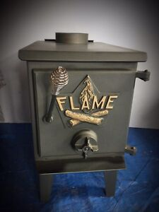 FLAME Wood Stove Excellent