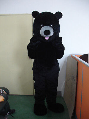 New Professional Black Bear Mascot Costume Fancy Dress Adult Size Halloween