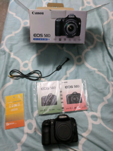 Used DSLR Canon 50D camera body and box