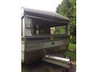 Vintage retro classic caravan