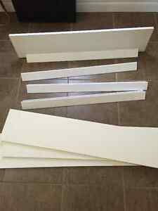 4 White Shelves with Wall Brackets