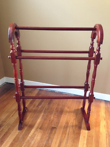 Burgundy Blanket Stand or Quilt Rack