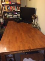 MUST SELL NOW Dining room table w/4 chairs and free stereo