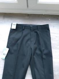 New M&S Boys Black School trousers age 12-13 plus