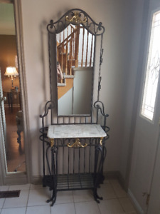 Entry/ Hall table with mirror