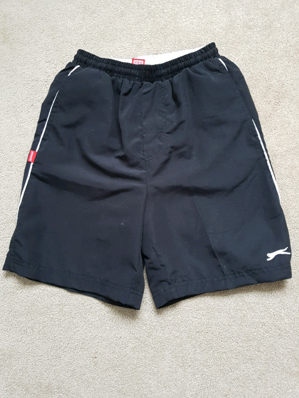 e4ad6034ef Boys Age 7-8yrs Lined Black Slazenger Sports Shorts | in ...