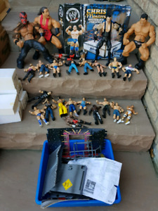 HUGE collection of WWE WWF wrestling figures toys