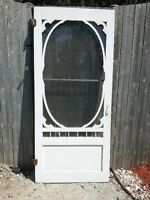 Wood Screen door and steel door