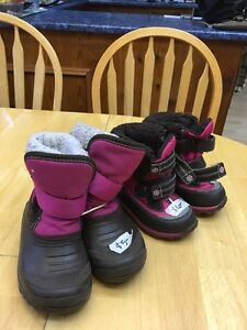 Kids size 5 and 8 winter boots Prince George British Columbia image 1