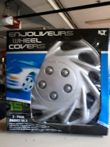 """Set of six 15"""" wheel covers in great condition!"""