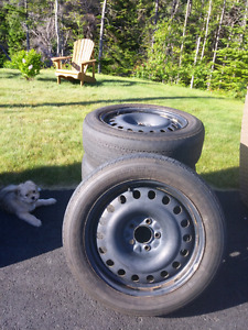 Set of 4 All Season Tires and Rims